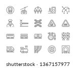 set of train and railways line...   Shutterstock .eps vector #1367157977