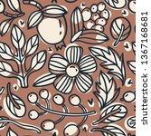 vector floral seamless pattern...   Shutterstock .eps vector #1367168681