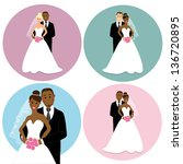 set of international wedding... | Shutterstock . vector #136720895