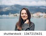 young beautiful girl enjoys...   Shutterstock . vector #1367215631