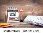 quick loan concept. fast money... | Shutterstock . vector #1367217221