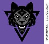 wolf head logo. great for... | Shutterstock . vector #1367222534