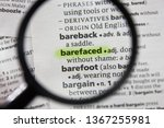 Small photo of The word or phrase barefaced in a dictionary.