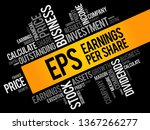 eps   earnings per share word... | Shutterstock .eps vector #1367266277