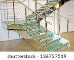internal staircase made of... | Shutterstock . vector #136727519