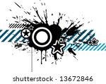 design elements with star ... | Shutterstock .eps vector #13672846
