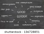 leadership chart on blackboard | Shutterstock . vector #136728851