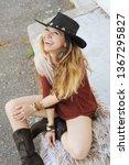 fashion woman portrait  dreesd... | Shutterstock . vector #1367295827