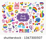 vector collection of lgbtq... | Shutterstock .eps vector #1367300507