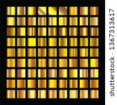 golden squares collection. gold ... | Shutterstock . vector #1367313617