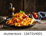 tasty appetizing pasta...   Shutterstock . vector #1367314001