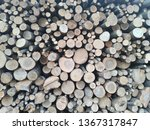 firewood background. chopped... | Shutterstock . vector #1367317847