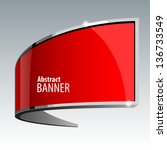 Shiny Gloss Red Vector Banner...