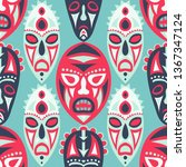 seamless background. tribal... | Shutterstock .eps vector #1367347124