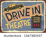 drive in theater vintage sign... | Shutterstock .eps vector #1367382437
