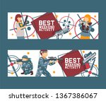 laser tag game set of banners... | Shutterstock .eps vector #1367386067
