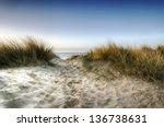 Path Leading Through Sand Dunes ...