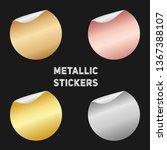 set of round metallic stickers...   Shutterstock .eps vector #1367388107