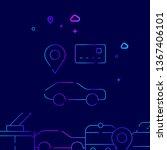 car sharing  car rental vector...