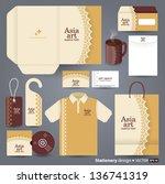 stationery design set in vector ... | Shutterstock .eps vector #136741319