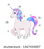 funny little unicorn pony with... | Shutterstock .eps vector #1367434007