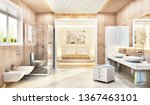 a bedroom combined with a... | Shutterstock . vector #1367463101