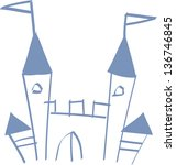 vector illustration of a castle | Shutterstock .eps vector #136746845