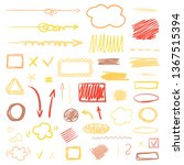 hand drawn infographic elements ... | Shutterstock .eps vector #1367515394