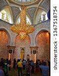 interior of sheik zayed mosque...   Shutterstock . vector #1367518754