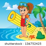summer water activity theme 6   ... | Shutterstock .eps vector #136752425