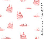 pattern with sketches of boat...   Shutterstock .eps vector #1367528147