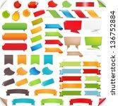big set speech bubble and... | Shutterstock .eps vector #136752884