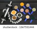 body building dumbbell weights...   Shutterstock . vector #1367531444