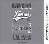 kansas  kansas state slogan  ... | Shutterstock .eps vector #1367551364