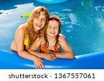 happy friends posing in the... | Shutterstock . vector #1367557061