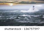 Lighthouse  On A Stormy Day  ...