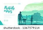 family spend time together in... | Shutterstock .eps vector #1367579114