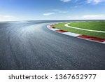 Asphalt Race Track With...