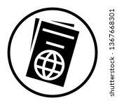 passport symbol icon | Shutterstock . vector #1367668301