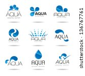 water design elements. water... | Shutterstock .eps vector #136767761