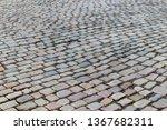 an old stoneblock pavement...   Shutterstock . vector #1367682311