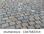 an old stoneblock pavement...   Shutterstock . vector #1367682314