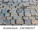 an old stoneblock pavement...   Shutterstock . vector #1367682317