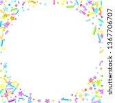 sprinkles grainy. cupcake... | Shutterstock .eps vector #1367706707