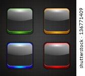 app buttons | Shutterstock .eps vector #136771409