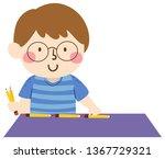 illustration of a kid boy using ... | Shutterstock .eps vector #1367729321