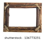 Wooden Picture Frame Isolated...