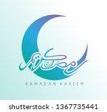 ramadan kareem has mean muslim... | Shutterstock .eps vector #1367735441