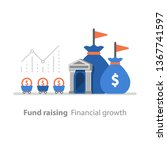 fund raising  financial growth  ... | Shutterstock .eps vector #1367741597