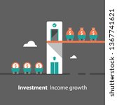 return on investment  income... | Shutterstock .eps vector #1367741621